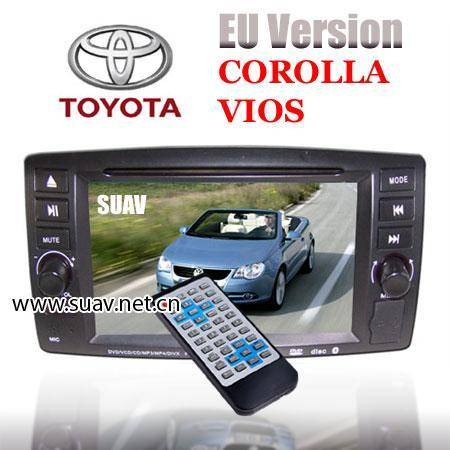 EURO Version TOYOTA COROLLA VIOS 6.5 Car DVD Player GPS navigation TV IPOD