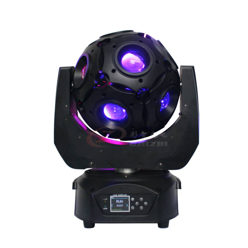 New Arrival 12pcs RGBW Led Beam Football Moving Head Light/Led DJ Disco Ball