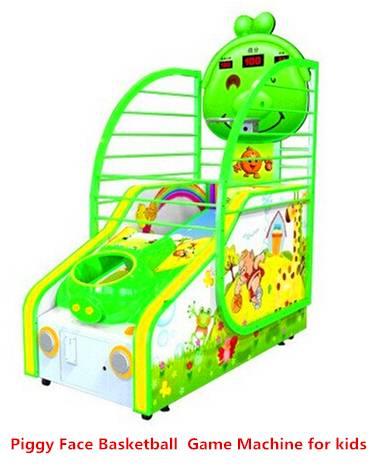 Piggy Face - Coin Operated Amusement Park Kids Basketball Arcade Game Lottery Machine