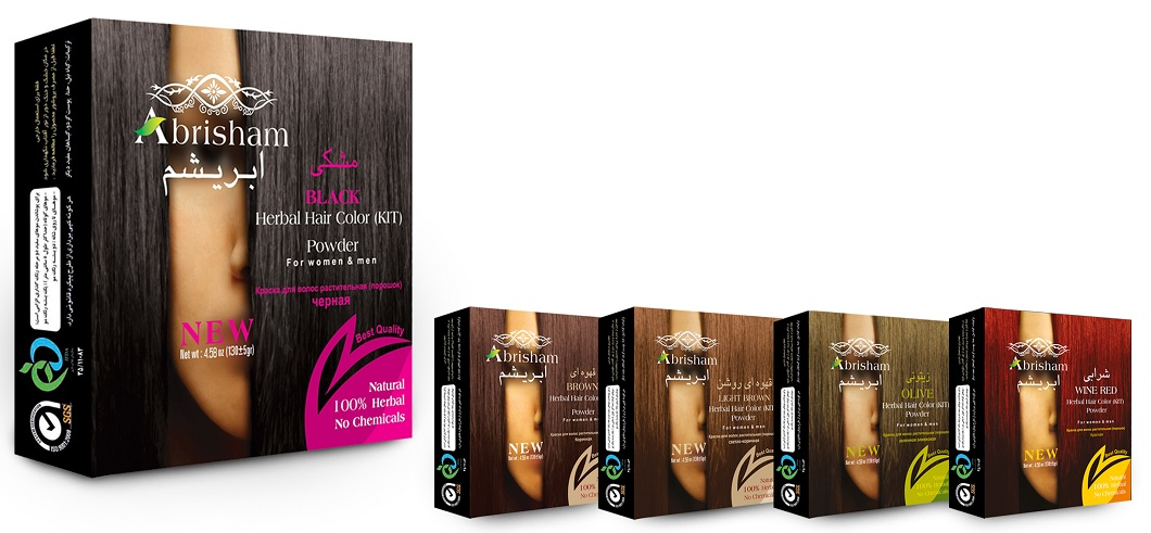 Abrisam Herbal Hair Color Powder (Black, Brown, Light Brown, Olive, Red)