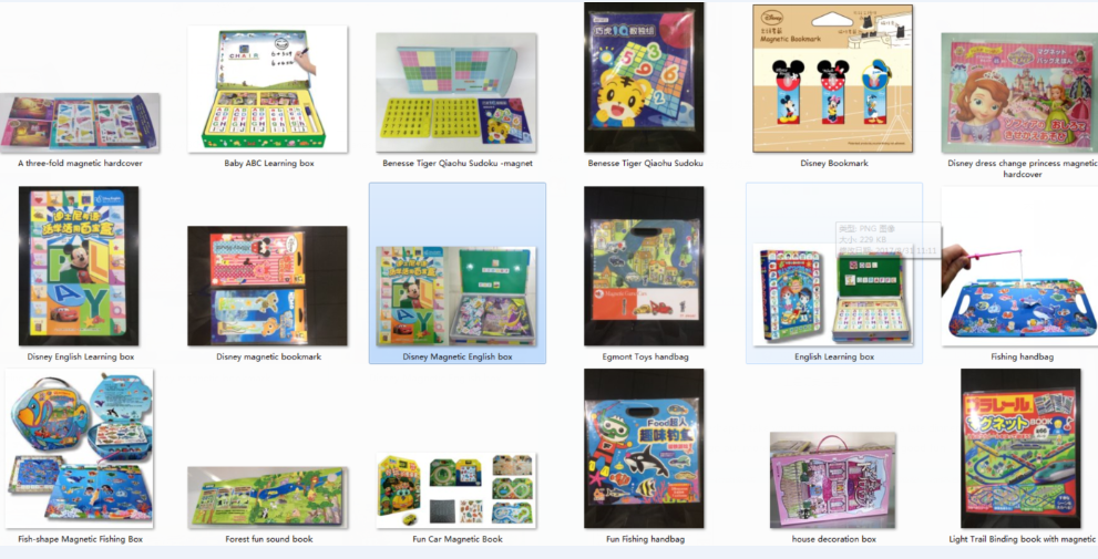 Educational toys-magnetic products, special printing