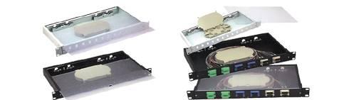 transparent plate optical fiber patch panel