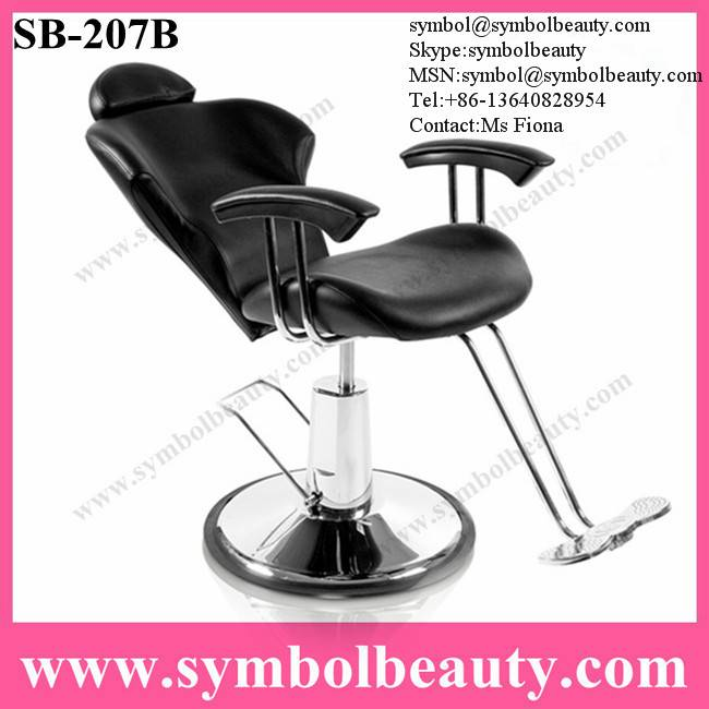 reclined barber chair