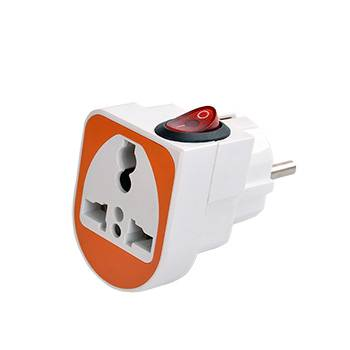 european power plug with switch