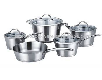Stainless steel cookware set 9pcs