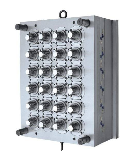 24-Cavity Water Cap Mould with Hot Runner System