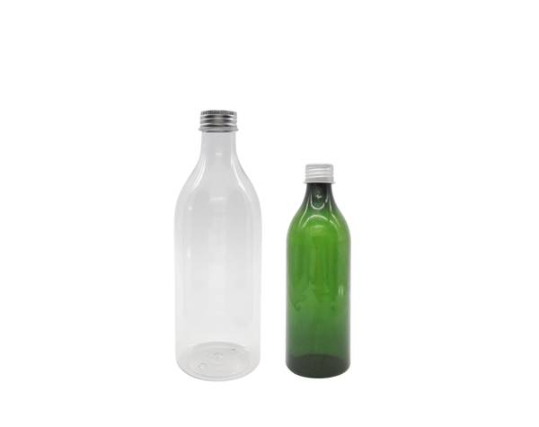 industrial rounds plastic bottles