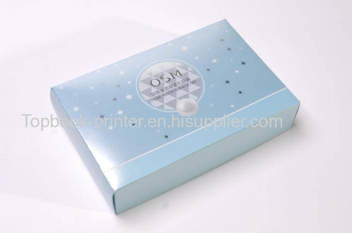 Hot-selling silver-stamping silver cardboard pearl water packaging gift box