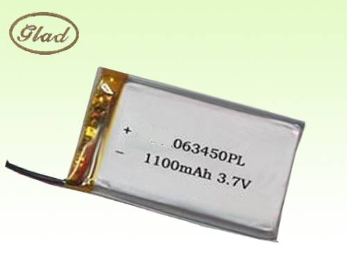 3.7V 603448 Li-ion Polymer Battery 1100mAh