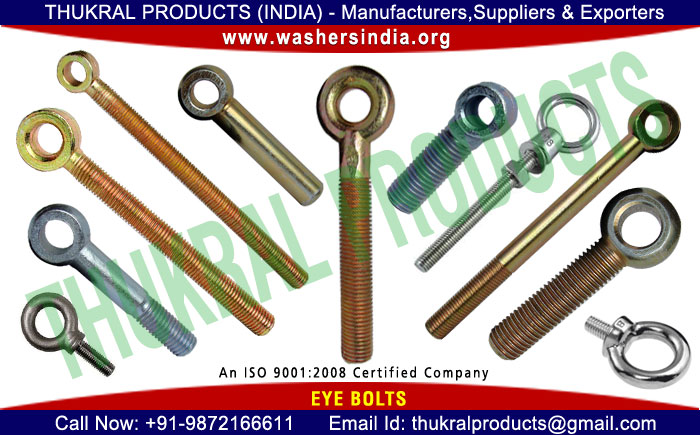 Eye Bolts manufacturers in India Punjab Ludhiana
