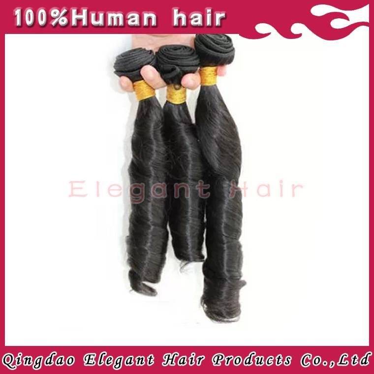 Fashion hair product spring curl peruvian human hair