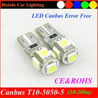 Factory supply High-quality 12V Canbus T10 5050 5smd5led 5050smd w5w / 194 / T10 car led lights car,