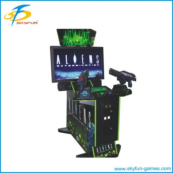 Amusement coin operated shooting game machine
