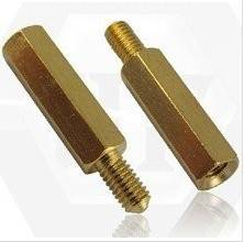 CNC machining copper and brass threaded bushing and connector