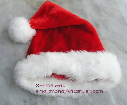 sell holiday gifts red fur hat and socks for xmas christmas