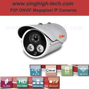 P2p Onvif 720p 1.0MP Waterproof IR IP Camera (NS5060)