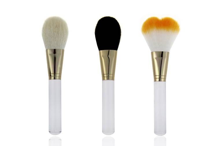 Multiple Shapes Kinds Of Colors Hair Contour Blush Brush Transparent Handle Brush