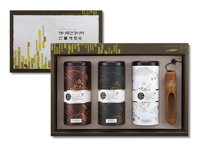Bamboo Tea Gift Set(bamboo leaf tea+bamboo leaf tea mixed jujube+bamboo leaf tea mixed brown rice)