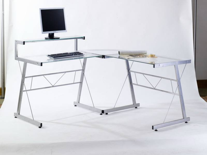 Best Selling glass and steel computer desk Model0902C