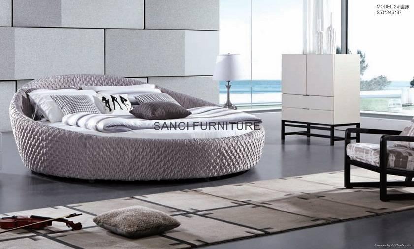 Offer SANCI brand MILAN series elegant fabric round bed
