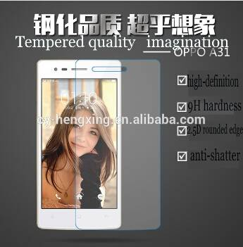 Hot selling 9H Hardness anti-fingerprint tempered glass screen protector for A31