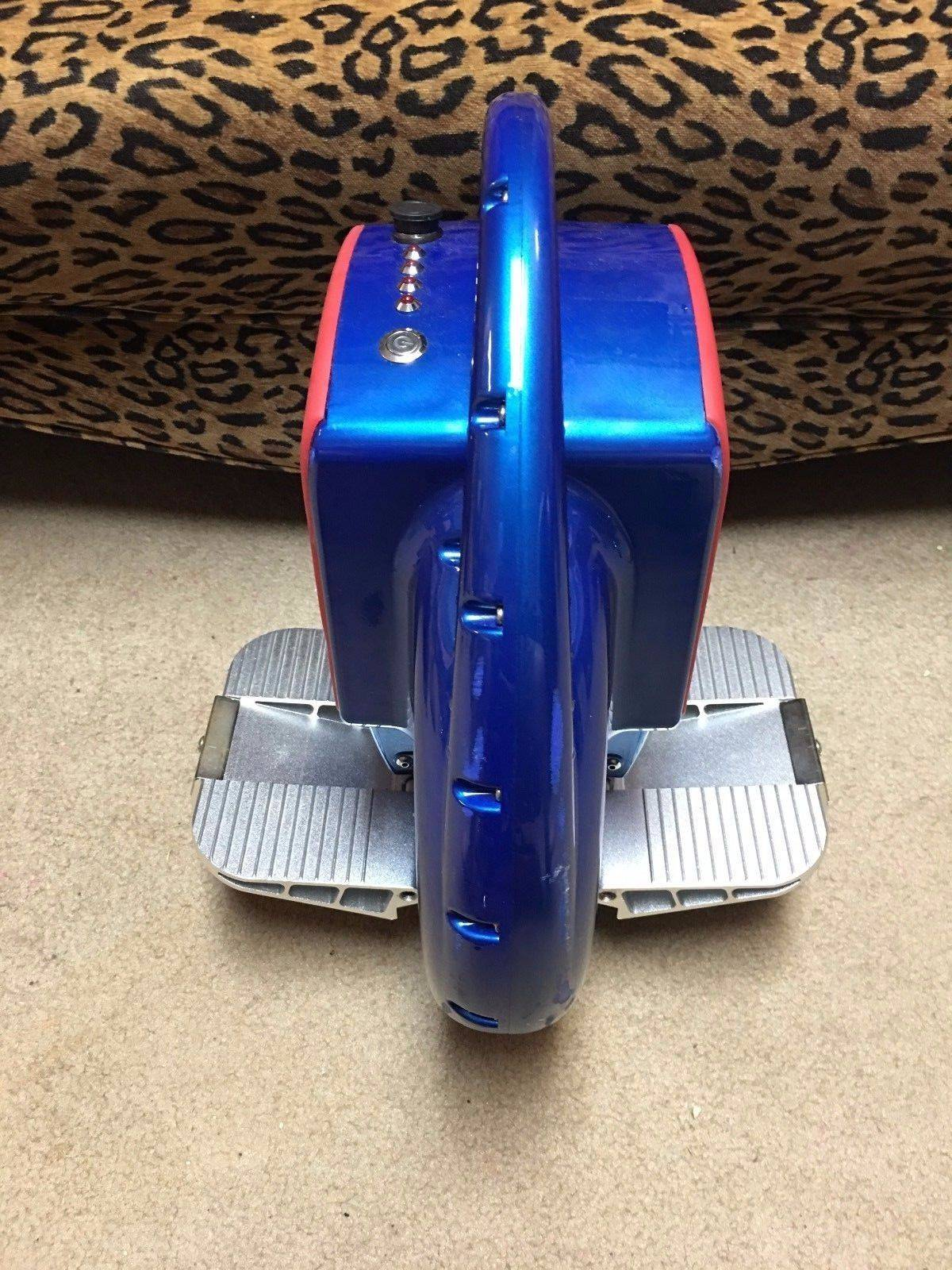 ELECTRIC UNICYCLE SCOOTER Royal Blue/Red Removable Training Wheels