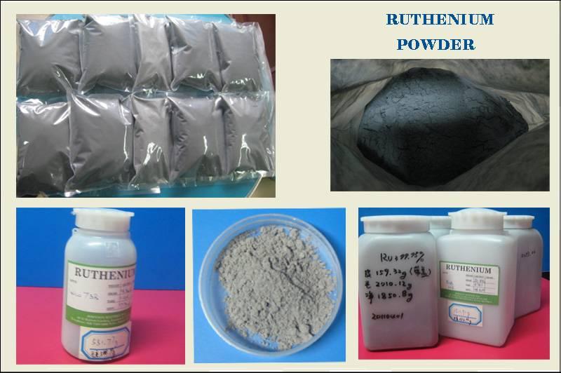 Ruthenium powder metal (99.9%~99.99%)