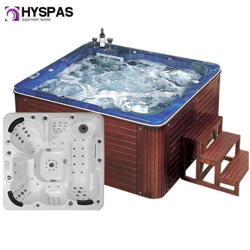 Luxury CE Approved Hot Tub and Massage Outdoor Whirlpool SPA Jacuzzi (HY-6602)
