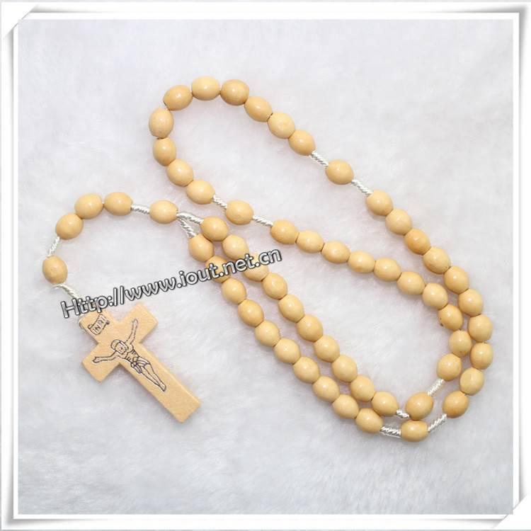 wooden bead rosary