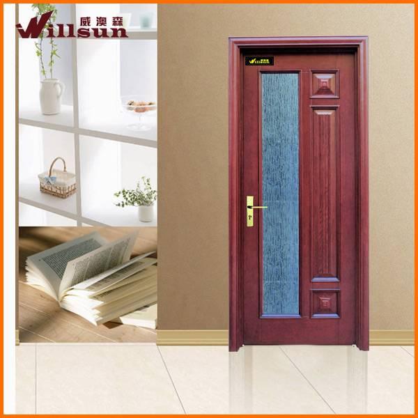wood glass door design