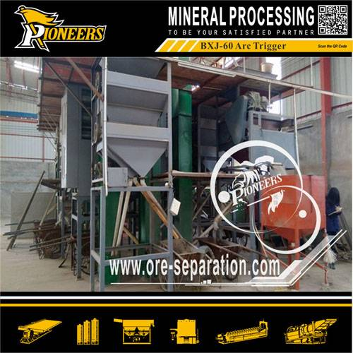 Zicron, rutile, monazite , rate earth upgrading electrostatic separator machine