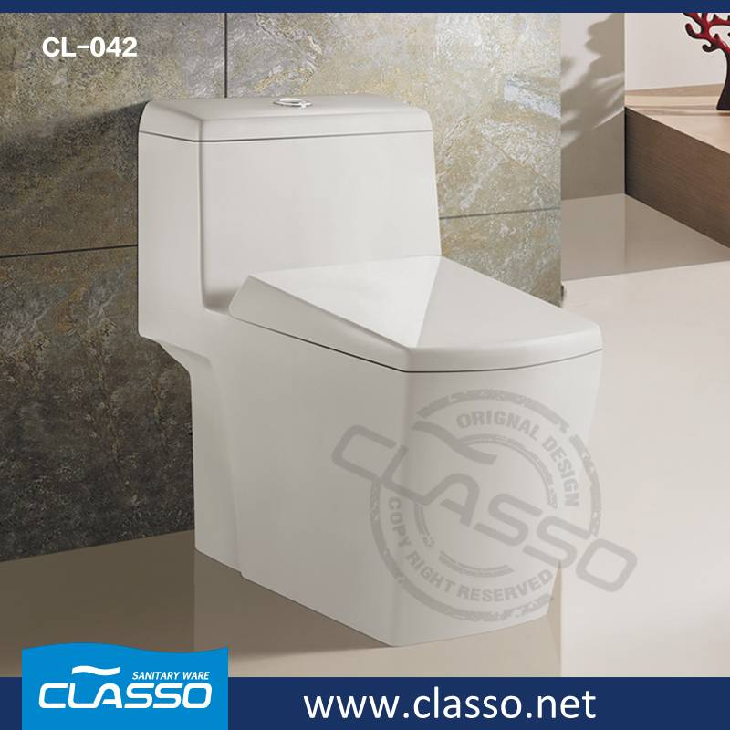 Hotel siphonic toilet new design water closet CL-042
