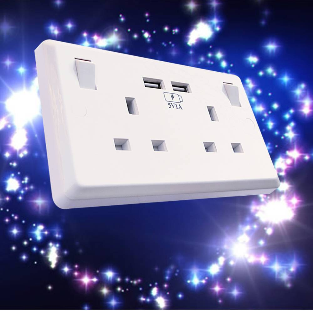 Made in China 2 usb factory supply switch port hot selling usb wall socket