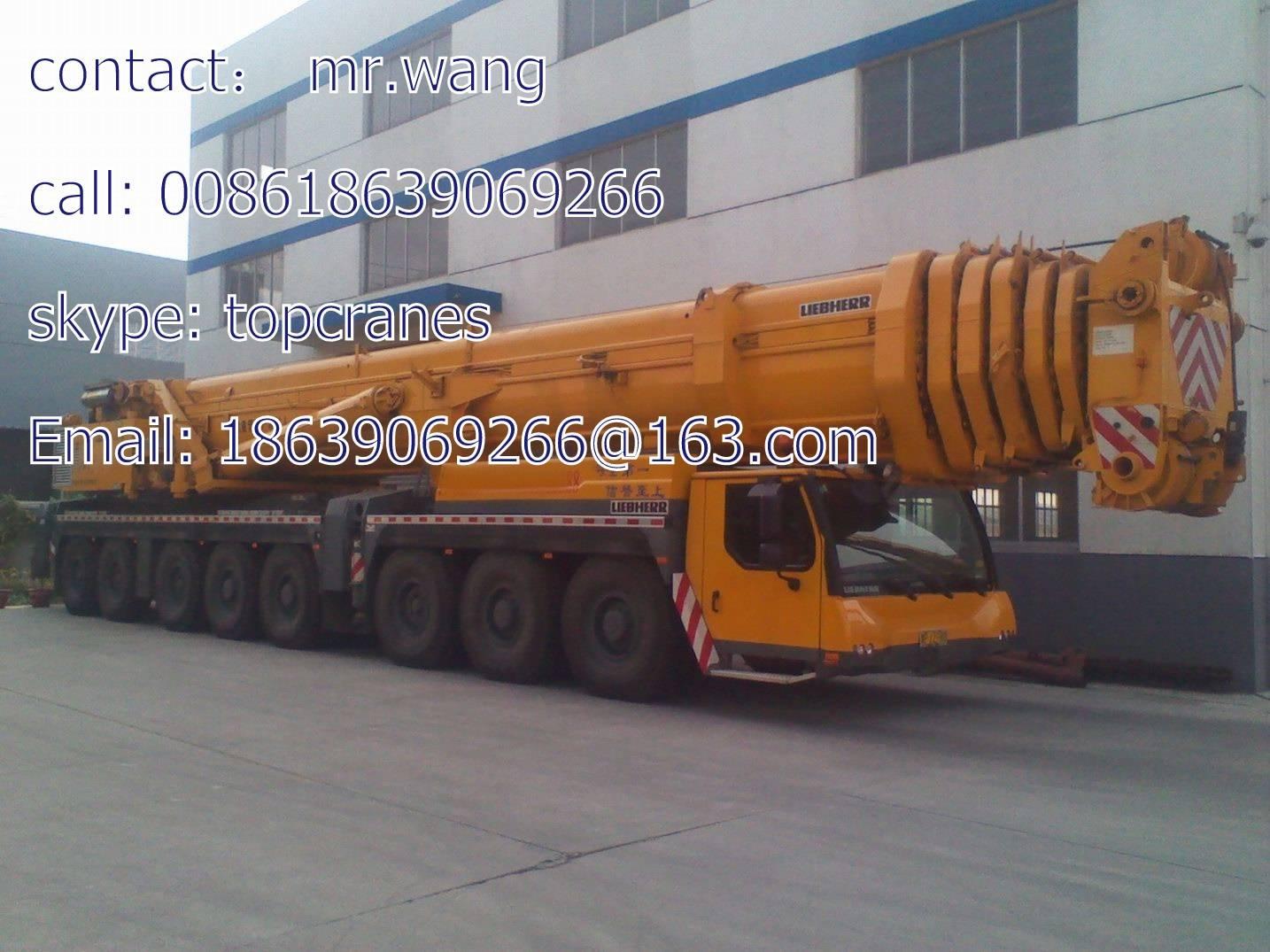 LIEBHERR LTM 1500-8.1 500 ton All-terrain Used mobile crane 500t