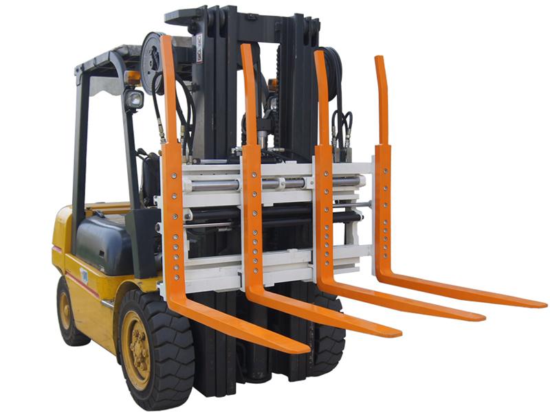 Forklift attachment single double pallet handlers