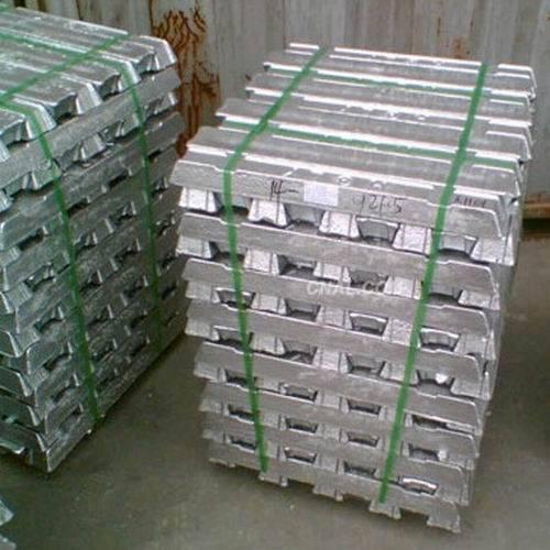 Aluminum Ingots, Copper Ingots, Zinc Ingots, Lead Ingots, Steel Ingots.