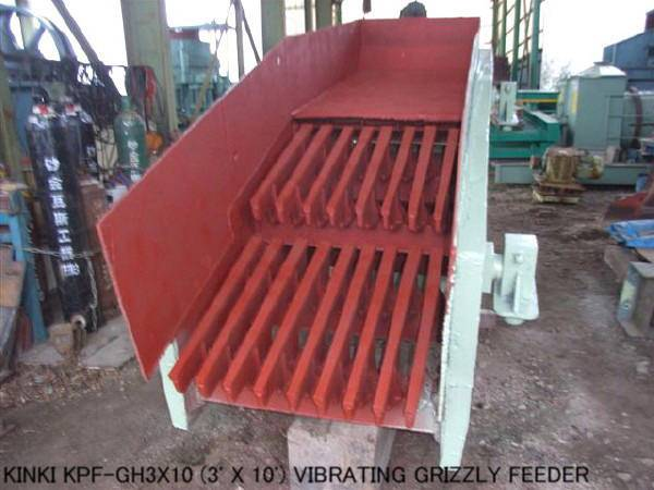 USED KINKI MODEL KPF-GH3x10 (3ft X 10ft) VIBRATING GRIZZLY FEEDER WITH 11KW VARIABLE SPEED MOTOR