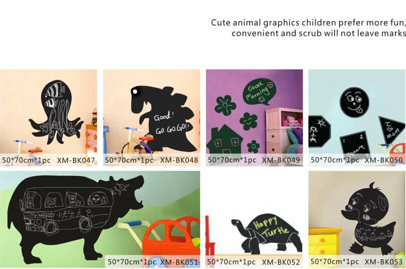 Cute Animal Printed Home Decorative Wall PP Blackboard/Chalkboard Sticker