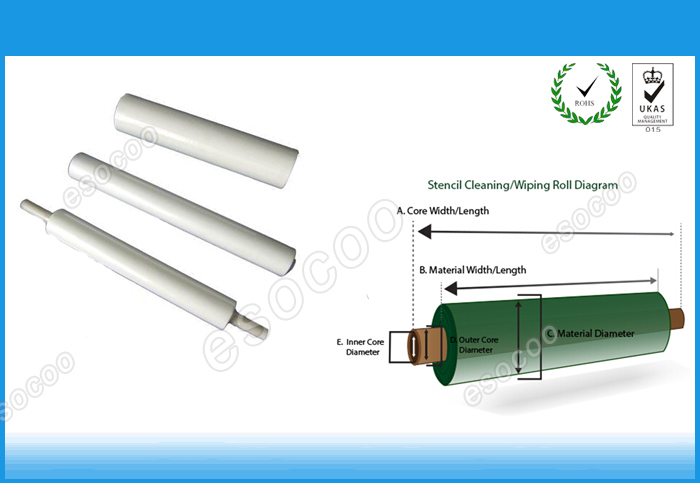 stencil wiper paper for smt screen printer