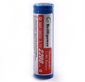 Brillipower IMR18650 Batteries 2200mAh Li-Mn Rechargeable Batteries
