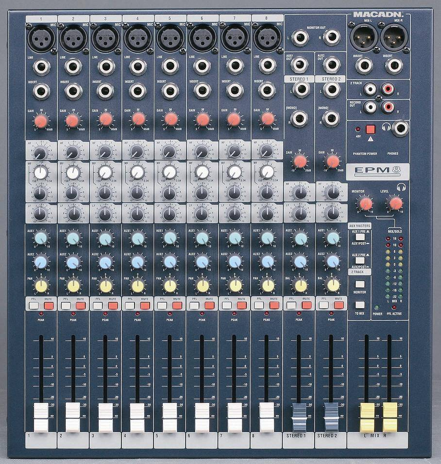 6/8/12 channel audio mixer EPM6