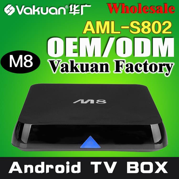 Factory quad core Amlogic s802 russian internet tv box with 3d movies free download
