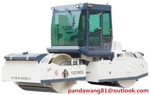 China SINOMACH Brand 10Tons YZC10GS Double Wheels Roller