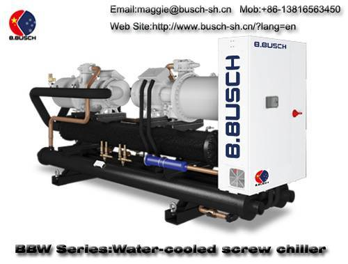 BUSCH water cooled screw chiller for cooling process