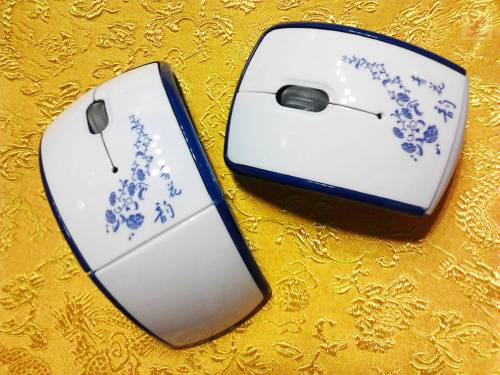 Chinese classical folding wireless mouse