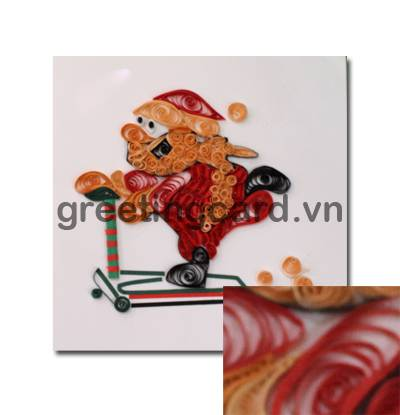 Painting Quilling handmade card