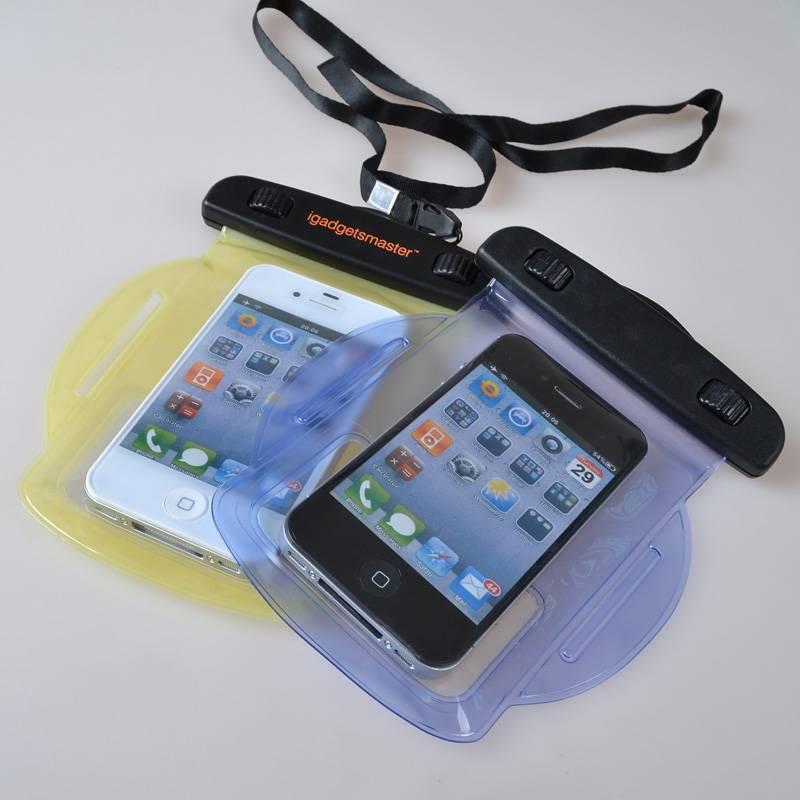 PVC mobile phone waterproof bag, clear waterproof cell phone bag