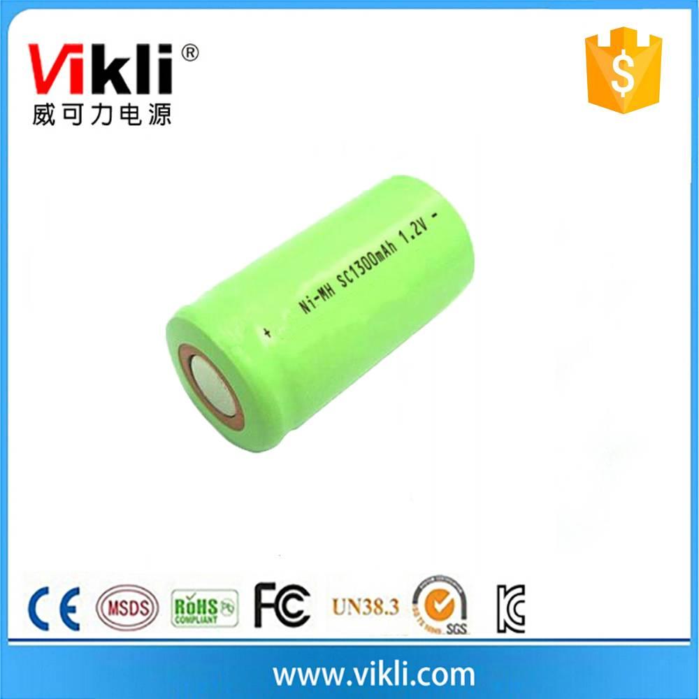 AA rechargeable batteries nimh 1300mah 6.0V