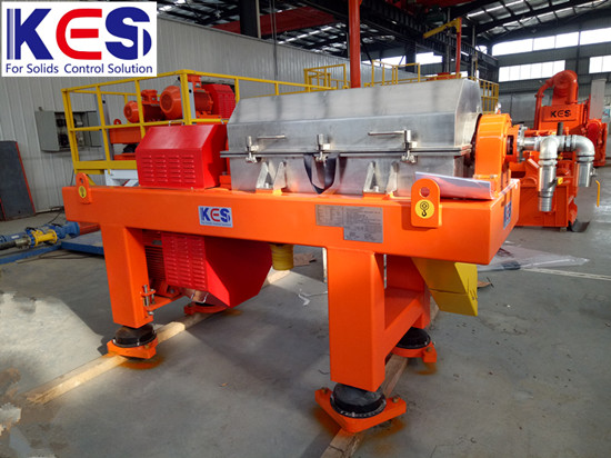 KES high-speed VFD 200GPM horizontal decanter centrifuge