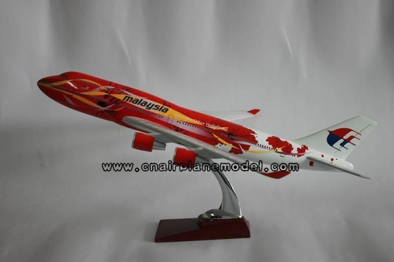 model aircraft B747-400 Malaysia 47cm